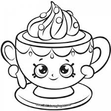Your girls will squeal with delight and say, awwwww when they see our huge selection of pages. Shopkins 7 Tiny Teacup Coloring Page Shopkins Colouring Pages Cute Coloring Pages Barbie Coloring Pages