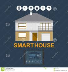 how to design a smart home. Smart Home. Flat Design Style Illustration Concept Of House Technology System With Centralized Control. Building, Electronic. How To A Home T