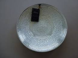Large Silver Decorative Bowl NWT Silverina HANDMADE Glass And Silver Decorative Bowl Dish Plate 40