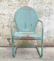 retro metal lawn chair teal rustic vintage porch furniture on 55 00