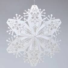 paper snowflakes 3d laser cut white small christmas snowflakes