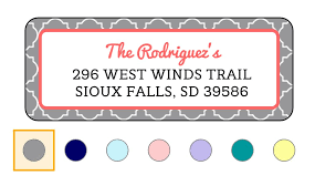 And every design has multiple color combinations! 11 Places To Find Free Stylish Address Label Templates