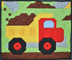 Baby boy quilt pattern: Dump Truck in Wall, Crib, and Lap sizes ... & Baby boy quilt pattern: Dump Truck in Wall, Crib, and Lap sizes from  CountedQuilts on Etsy Studio Adamdwight.com