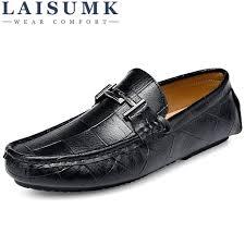 <b>LAISUMK</b> Genuine Leather Men Shoes <b>Casual Driving Shoes</b> ...