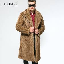 mens trench coat with fur collar faux fur coats long trench coat fur collar leather suede jacket men overcoats warm mens black trench coat with fur collar