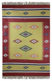 morning star cotton dhurrie rug 4x6