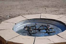 furniture fire pit inspiring ideas build your own gas fire pit diy guide intended for
