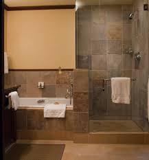 amusing bathroom wall tiles design. Bathroom, Amusing Bathroom Decorating With Rectangle White Bathtub And Grey Tile Wall Also Walk In Tiles Design T