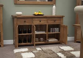 Rustic Living Room Set Tilson Solid Rustic Oak Dining Living Room Furniture Large Storage