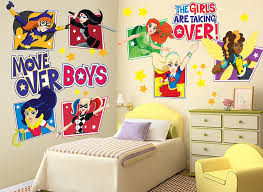 dc super hero girls wall decal set for good look superhero wall decals canada