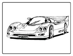 Race Car To Color Gyerekpalotainfo
