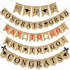 Aliexpress Com Buy Way To Go Banner For Graduation Party