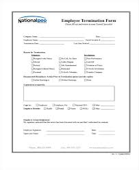 employee termination form template termination form template employment termination form template