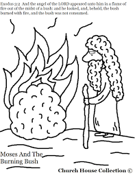 Small Picture Moses And The Burning Bush Coloring Pages