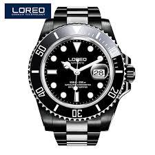 loreo watches men automatic self wind luminous waterproof loreo watches men automatic self wind luminous waterproof 200m archetype of diver s watch 116610lv