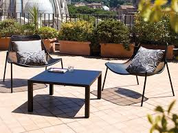 round b low table in metal matching with round c lounge armchairs