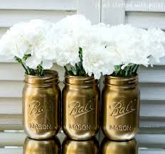 Unique Ideas for an Eco-Chic Wedding | Gold mason jars, Mason jar vases and  Chic wedding