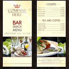 Bar Red Menu Template Free Vector Restaurant Templates – Poquet