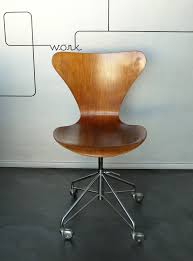 gray swivel office chair 75 vintage wooden. Vintage 3117 Office Swivel Chair By Arne Jacobsen For Fritz Hansen, 1969,  Oak - Gray Swivel Office Chair 75 Vintage Wooden