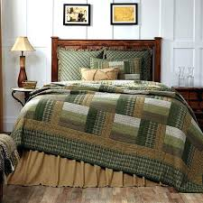 primitive bedding set new country rustic log cabin quilt olive green tan brown queen bedspread country primitive bedding set