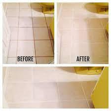 How I Transformed My Bathroom Floors For Under 12 Clean Bathroom Floor Cleaning Bathroom Tiles Cleaning Tile Floors
