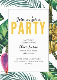 Electronic Birthday Invite Jungle Party Birthday Invitation Template Free Party