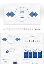 Awesome Simple Annual Summary Report Ppt Report Template For
