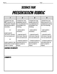 Science Fair Presentation Rubric