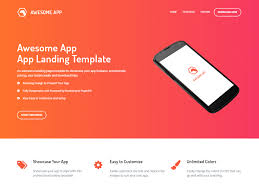 Material Design Template Download 15 Mobile App Landing Page Templates Built With Bootstrap