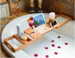 Bathtub Tray Luxury Bathtub Caddy Natural Bamboo Bath Tub Tray With 1 Free