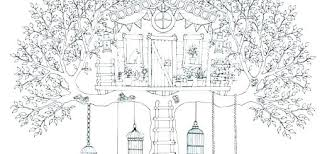 Tree House Coloring Pages With Elevator Coloring Page Color Coloring