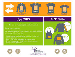 Free Vinyl Sizing Guide Htv Happy Crafters