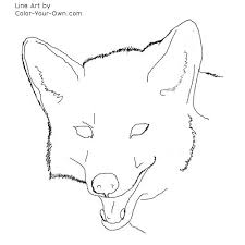 Small Picture Coyote Headstudy coloring page