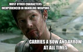 most other characters inexperienced in handling weapons carries a ... via Relatably.com