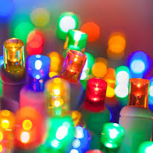 5mm Multi Color LED Christmas Lights,White Wire