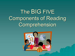 5 Components Of Reading Chart The Big Five Components Of Reading Comprehension Ppt Download
