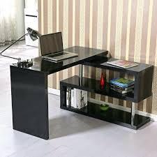 corner home office desks. Black Gloss Desk Computer Table Corner Home Office Storage Book Shelf Desks