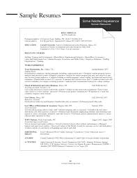 Sample Resume For Human Services
