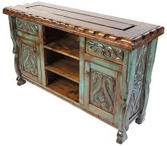 image rustic mexican furniture. green patina painted wood carved floral buffet with scalloped edge top this mexican furniturewestern furniturerustic image rustic furniture