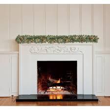 holiday time pre lit 9 jasper pine artificial garland clear lights com