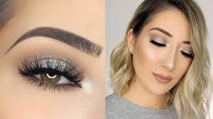 soft sparkly silver smokey eye makeup tutorial