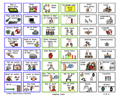 Schedules Behavior Charts Task Icon Cards Behaviour