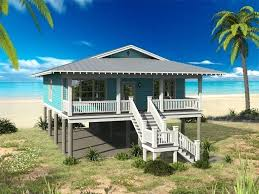 stilt beach house plans new amp coastal home one story