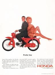 vintage honda motorcycle ads. 1964 honda 90 pretty foxy fur motorcycle ad vintage ads