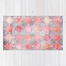 rhythm of the seasons c pink grey rug