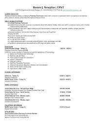 Pharmacy Technician Resume Objective Hospital Pharmacy Technician Resume Pharmacist Resume Template 100 75
