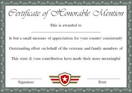 Honorable Mention Certificate Honorable Mention Certificate 10 Free Templates Use Them