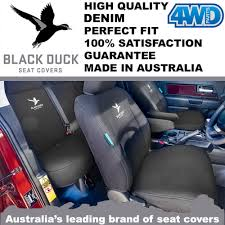 black duck denim seat covers crafter van front buckets 2 07 w dual armrest