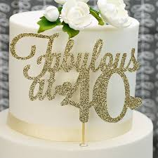 40th Birthday Cake Toppers And Decorations