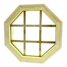 W Octagon Replacement Window Wood Mitered Fixed  1 2 X